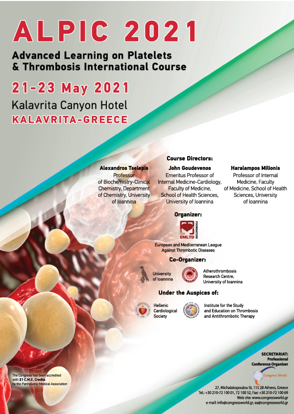 ALPIC 2021 - Advanced Learning on Platelets & Thromvosis International Course